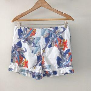 Tropical Print Summer Shorts
